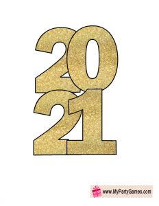 Free Printable New Year 2021 Prop