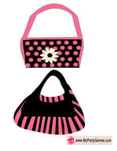 Pink and Black Bags Props for Bridal Shower Photo Booth