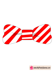 Free Printable Bow Tie Christmas Photobooth Prop