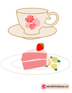 Tea Cup and Tea Cake Photo Booth Props