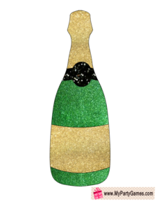 Champagne Bottle New Year Photo Booth Prop