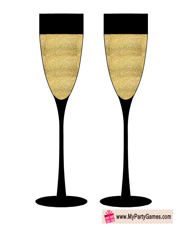 free printable champagne glasses prop