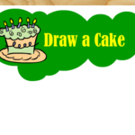 Draw a Cake- Free Printable Birthday Party Game