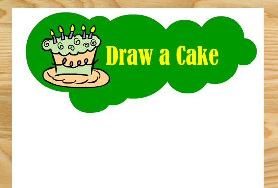 Draw a Cake- Free Printable Birthday Party Game