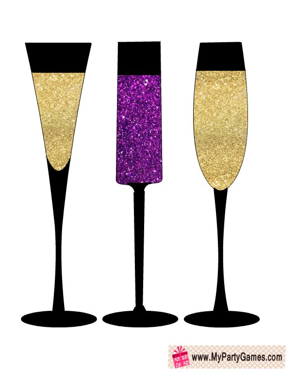 free printable champagne glasses prop free printable champagne glasses props