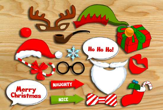 photo relating to Christmas Photo Props Printable named Free of charge Printable Xmas Picture Booth Props