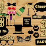 Free Printable New Year 2020 Photo Booth Props