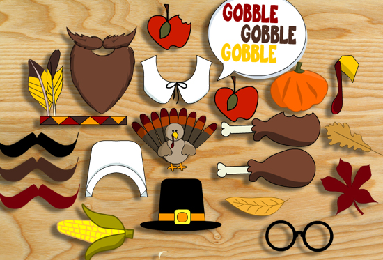 thanksgiving photo booth props free printable