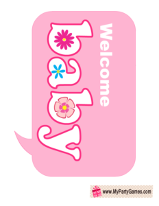 Welcome Baby Sign