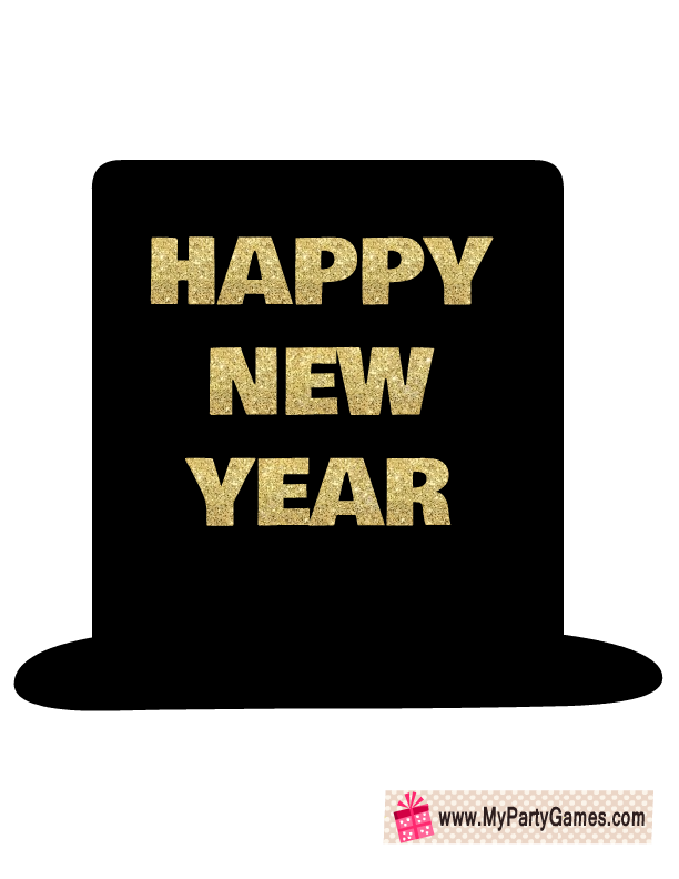 happy new year hat prop