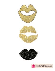glitter lips props