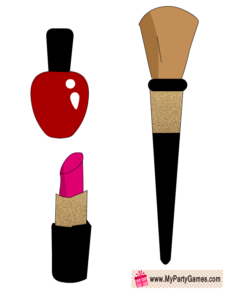 Lipstick, Nail Polish and Makeup Brush