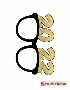 2022 New Year sunglasses prop