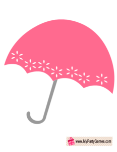 Free Printable Umbrella Prop for Bridal Shower