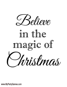 Believe in the Magic of Christmas - Free Printable Wall Art