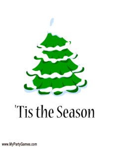 'Tis the Season Printable