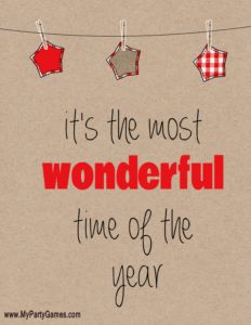 Most Wonderful Time of the Year printable