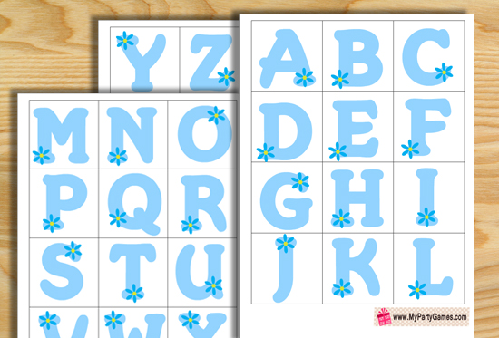 baby shower letters free printable baby shower alphabet introduction 20541 | baby alphabet introduction