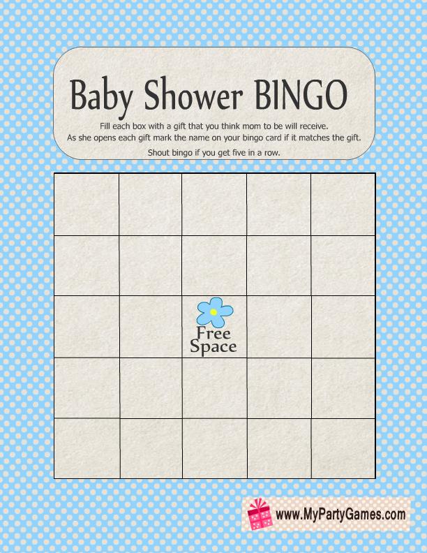 Baby Gift Bingo : Baby shower gift bingo game free printable