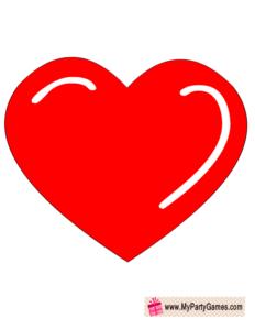 big red heart prop