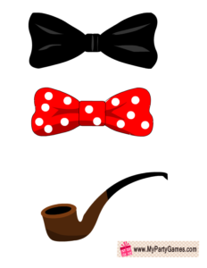 Bow Ties and Pipe Props for Photo Booth