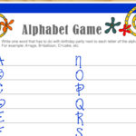Free Printable Birthday Alphabet Game