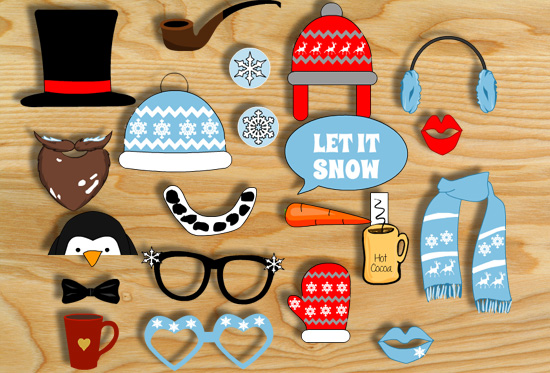 Free Printable Winter Photo Booth Props