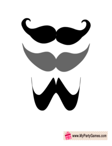 Moustaches props for Valentine Photo Booth