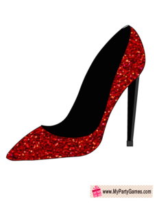Red Shoe Photo Booth Prop