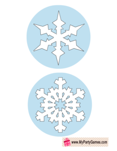 Free Printable Snowflakes Photo Booth Props