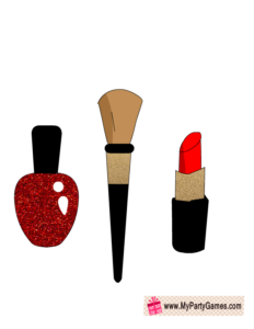 Makeup items Photo Booth Props