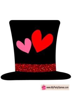 Hat with Hearts prop for Photo Booth