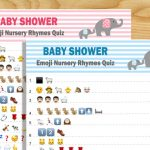 Free Printable Baby Shower Nursery Rhymes Emoji Quiz