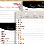 Free Printable Bridal Shower Emoji Pictionary Game