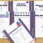 Free Printable Nautical Baby Shower Games