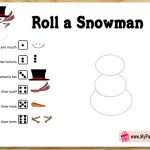 Free Printable Roll a Snowman Game for Christmas