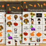 Free Printable Thanksgiving Picture Bingo Game