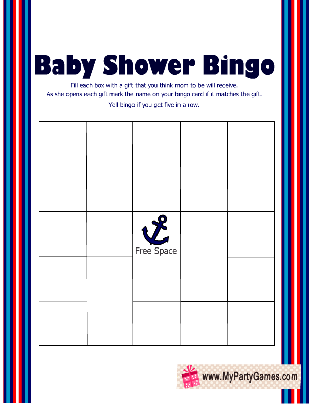 picture regarding Free Printable Nautical Baby Shower Games known as Absolutely free Printable Nautical Kid Shower Video games
