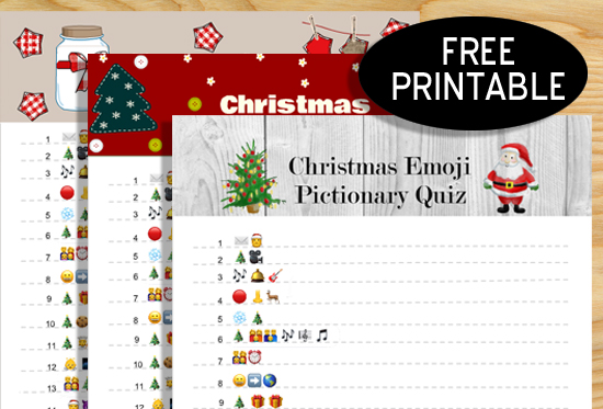 photograph regarding Printable Christmas Games With Answers named Totally free Printable Xmas Emoji Pictionary Quiz
