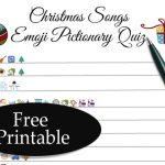 Free Printable Christmas Songs Emoji Pictionary Quiz