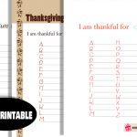 Free Printable Gratitude List A-Z