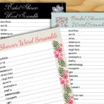 Free Printable Bridal Shower Word Scramble Game