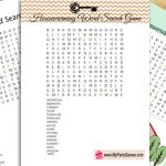 Free Printable Housewarming Word Search Game
