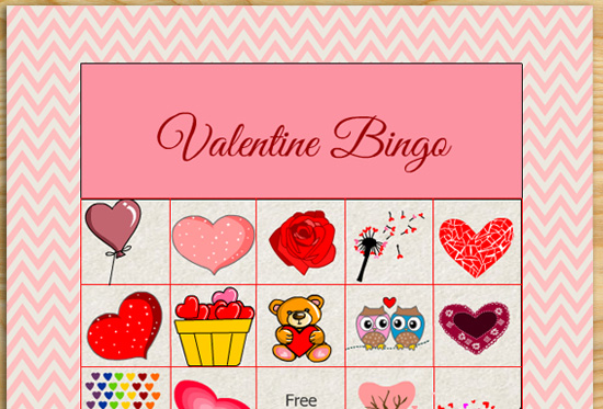picture regarding Printable Valentine Bingo Card named Absolutely free Printable Valentine Consider Bingo Video game