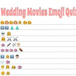 Free Printable Wedding Movies Emoji Pictionary Quiz
