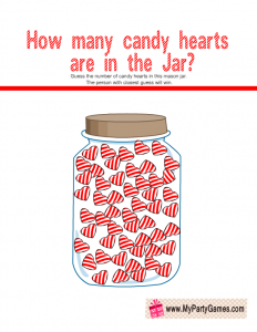 How Many Candy Hearts are in the Jar? Game