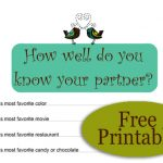 How Well do you know your Partner? Free Printable Game