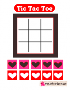 Free Printable Valentine Tic Tac Toe Game
