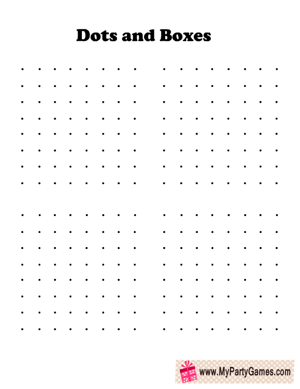 image about Dot Game Printable known as Free of charge Printable Dots and Packing containers Match for Small children