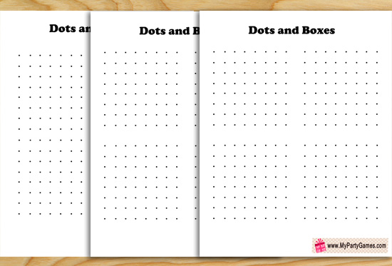 Free Printable Dots and Boxes Game for Kids